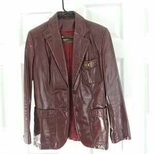 Aigner classic leather blazer 8